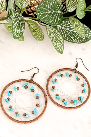 Boho Princess - Large Handmade Beaded Hoop Earrings