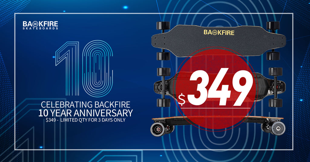 Backfire 10 Year Anniversary Sale