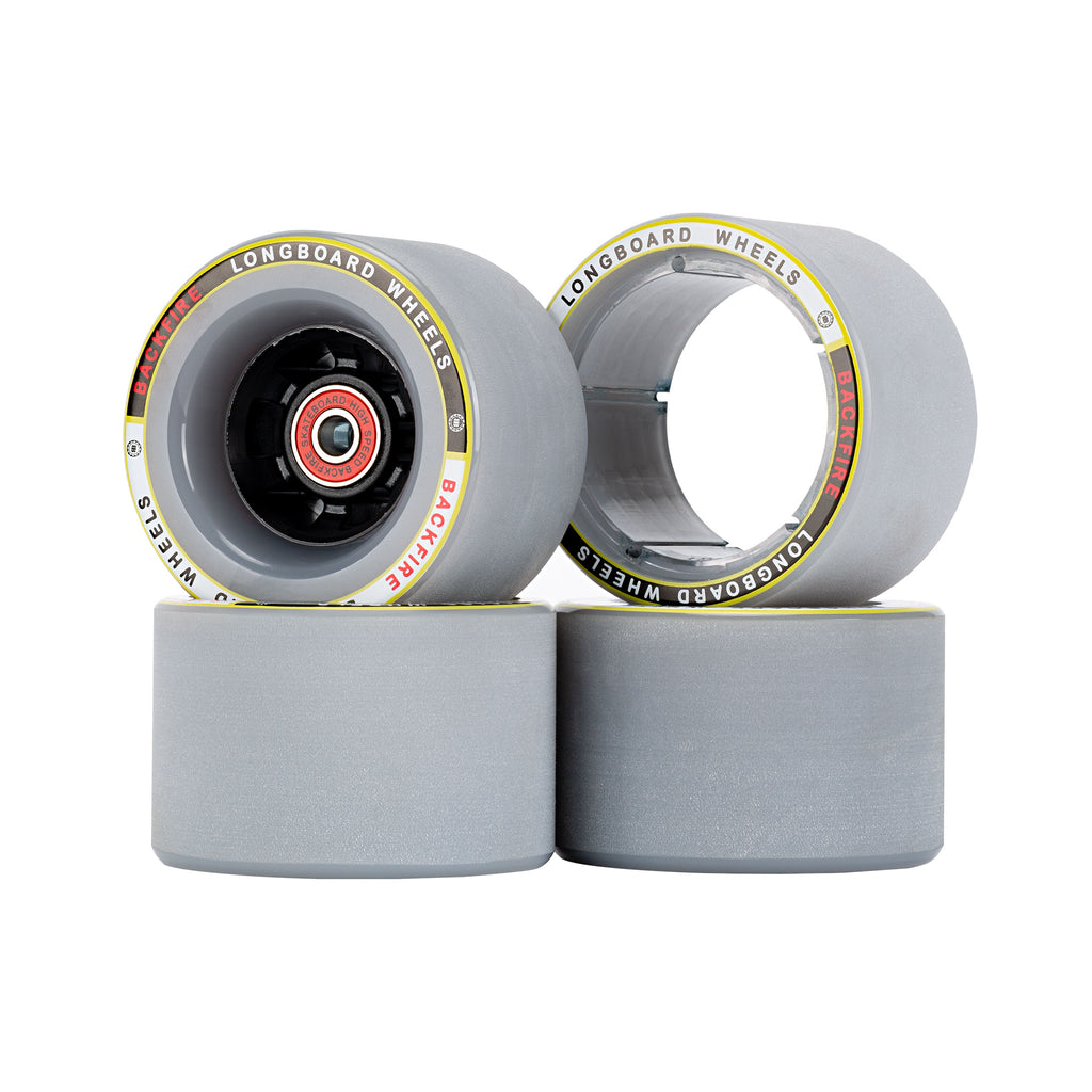 Backfire 85mm / 96mm Gray Wheels with 4 Pcs of Bearings and 2 Spacer Inside for G3 / G3 Plus / Mini / G2 Black