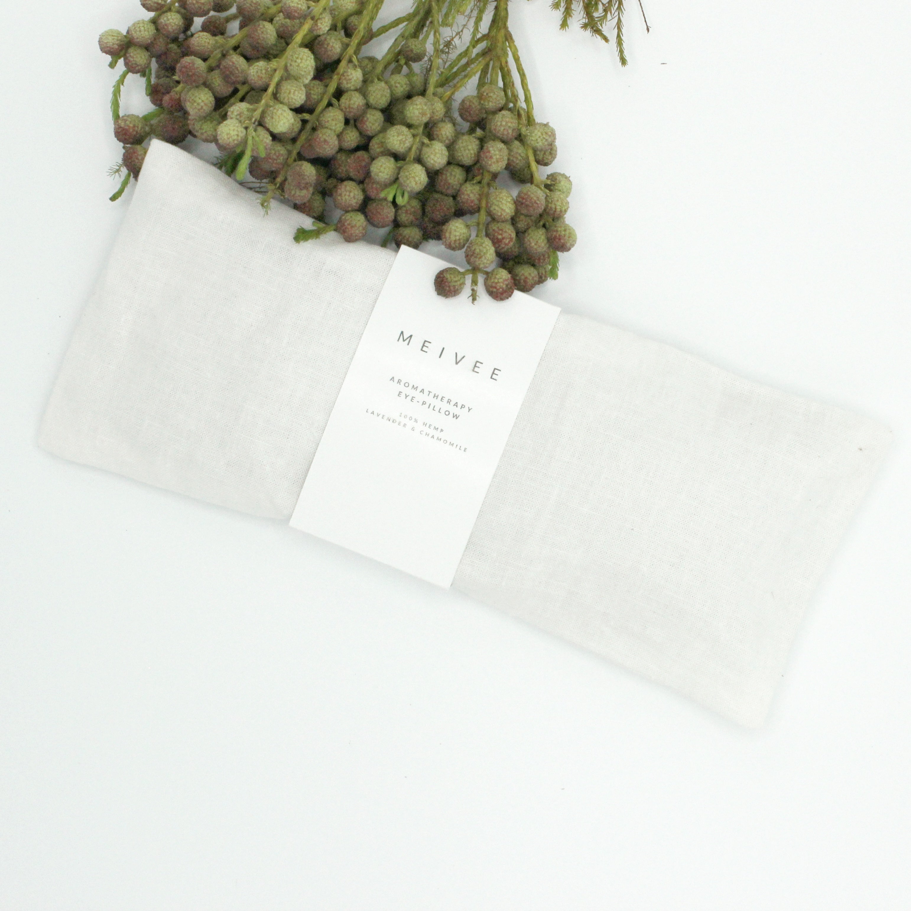 Linen Aromatherapy Eye Pillow - White