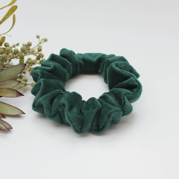 Emerald Green Velvet Scrunchie