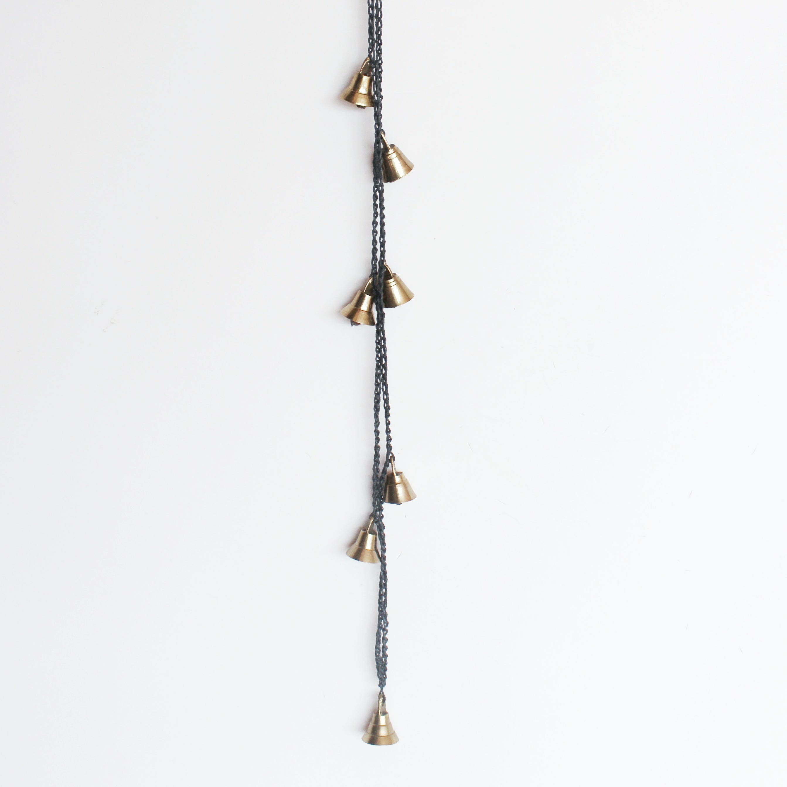 Indian Brass Hanging Bells-Charcoal