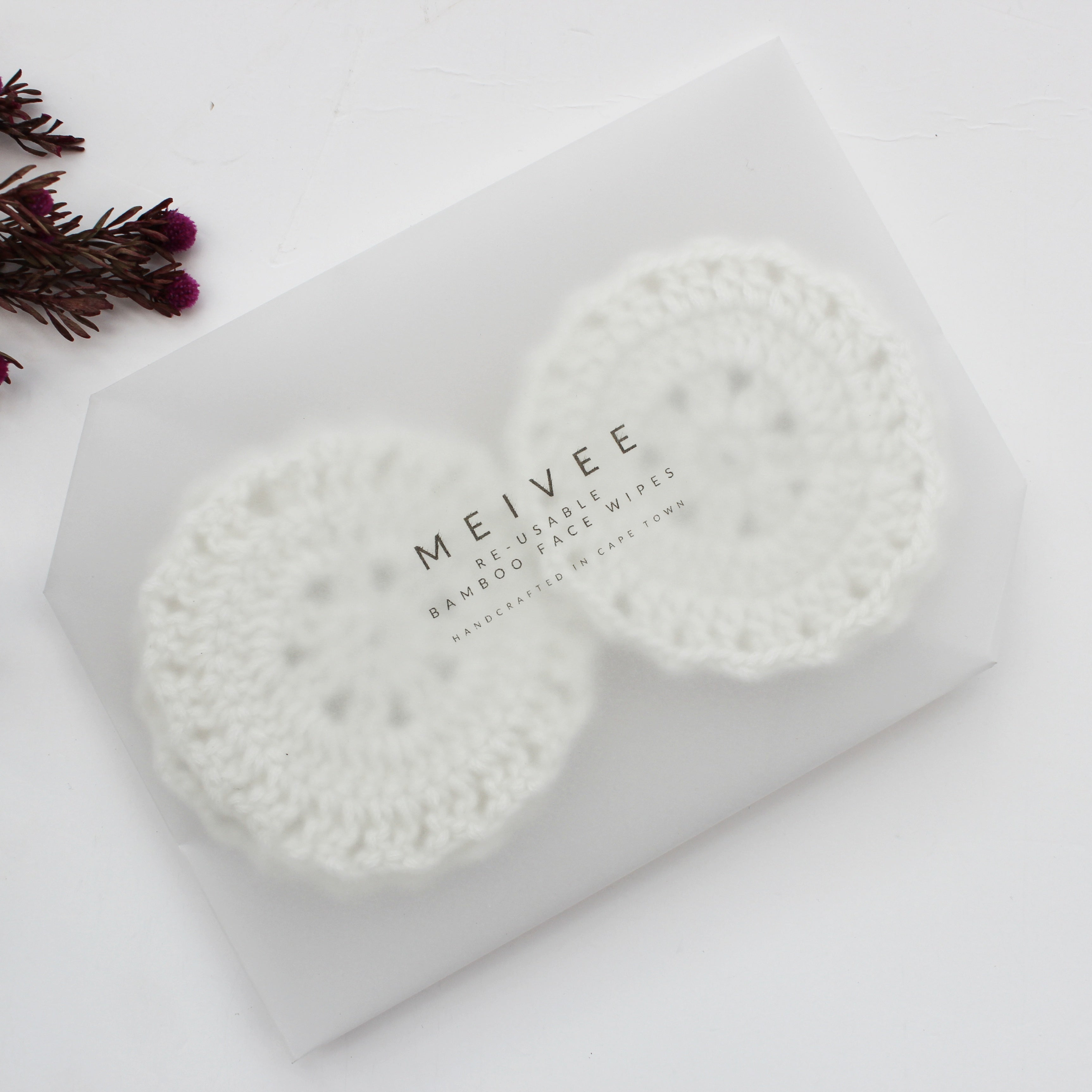 Silver Grey Bamboo Re-usable Face Wipes