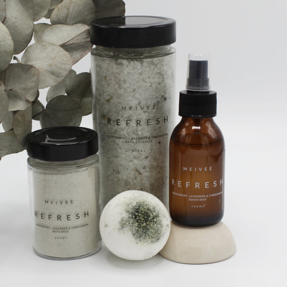 Refresh - Peppermint, Lavender & Cardamom Set