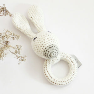 Ivory Bunny Rattle
