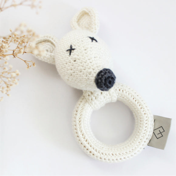 Ivory Mouse Rattle
