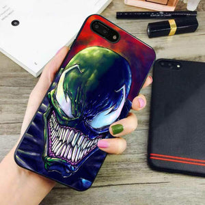 quality design d0afb b014e venom color marvel art iphone 8 plus cases