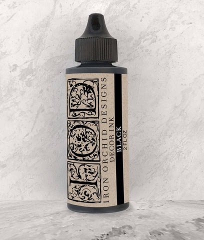 "IOD Decor Ink ""Black"" 2 fl oz - Savage Finds"