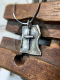 Handmade Artisan Cross Pendant in Solid Sterling w/Sterling Chain Necklace - Savage Finds
