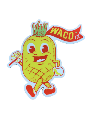 "3"" Waco, Texas, The Pineapple Sticker - Savage Finds"