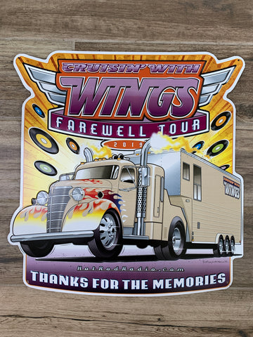 Original Metal Mancave Sign - Cruisin' With Wings Farewell Tour 2019