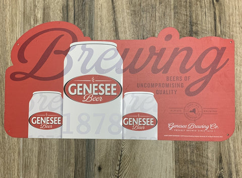 2019 Original Metal Sign - GENESEE BEER Brewing Rochester, NY