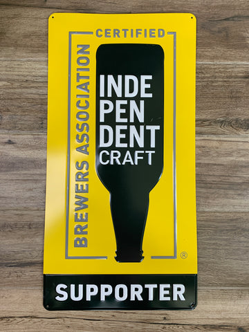 Original Metal Beer Sign - INDEPENDENT CRAFT BREWERS ASSOCIATION