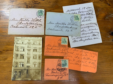 Antique c.1900 Hand-Written Letters & RPPC Postcard Germany