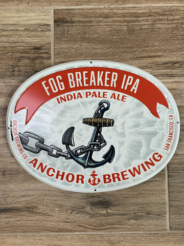 Original Metal Beer Sign - Anchor Brewing FOG BREAKER IPA