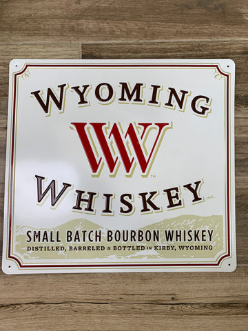 Original Metal Liquor Sign - WYOMING WHISKEY Small Batch Bourbon