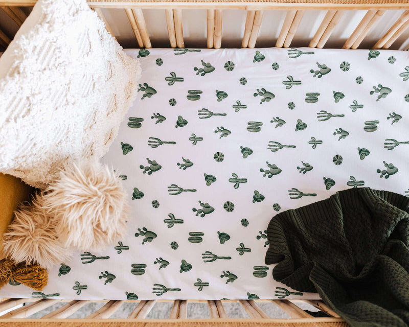 Snuggle Hunny Kids- Cactus Fitted Cot Sheet