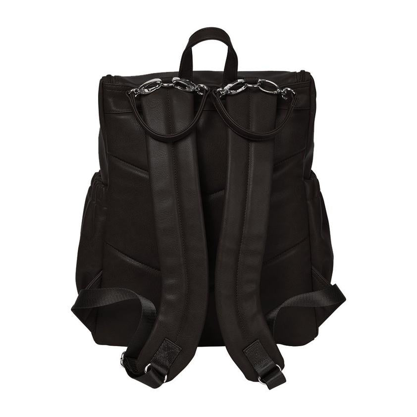 Oi Oi- Faux Leather Nappy Backpack- Black