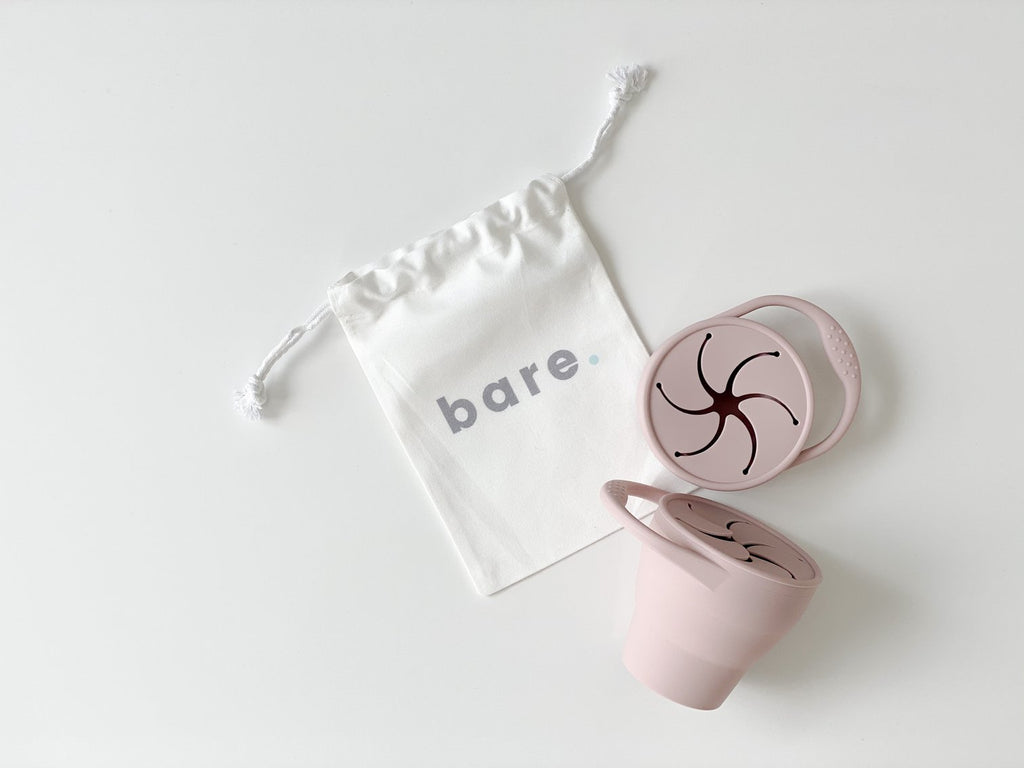 Bare.- Blush Silicone Snackie Cup