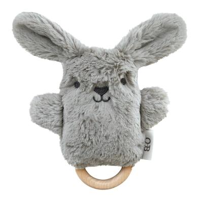 O.B Designs Wooden Teether/Rattle- Bodhi Bunny