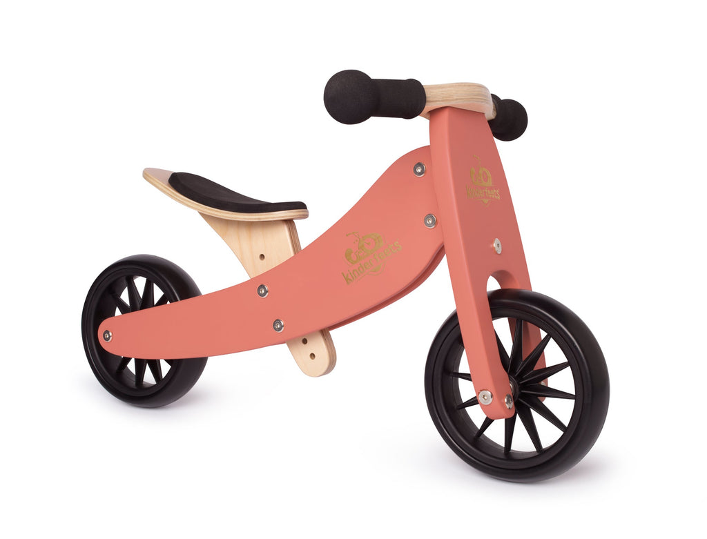 Kinderfeets- Tiny Tot Trike- Coral (PRE-ORDER FOR LATE OCTOBER)
