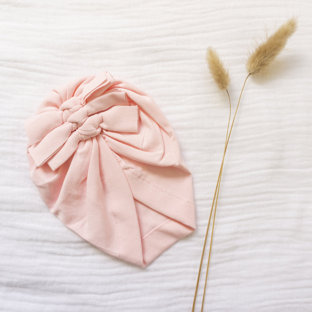 Light + Moon- Triple Knot Turban- Pink