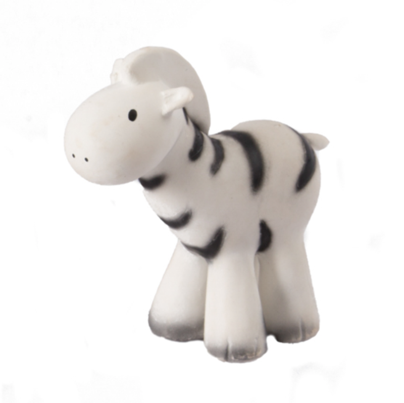 Tikiri Rubber Zoo Animal Teether-Zebra