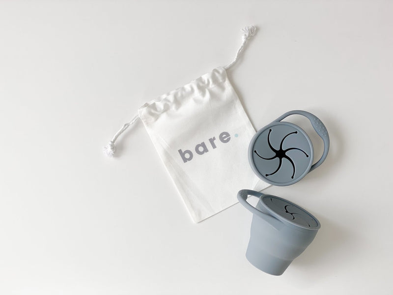 Bare.- Slate Silicone Snackie Cup