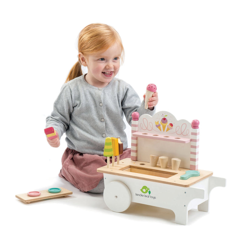 Tender Lead Toys-  Push Along Ice Cream Cart