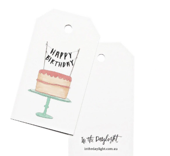 In The Daylight Gift Tags -Happy Birthday