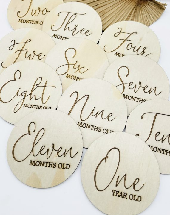Timber Tinkers- Classic Wooden Milestone Plaques