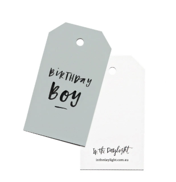 In The Daylight Gift Tags -Birthday Boy