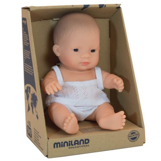 Miniland Baby Dolls 21cm- Asian Girl