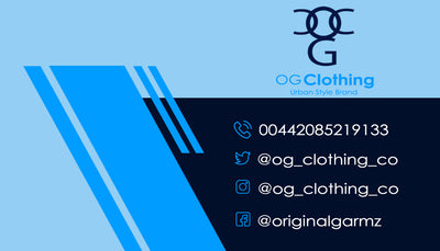 OG Clothing Business Card - Blue & Black Theme