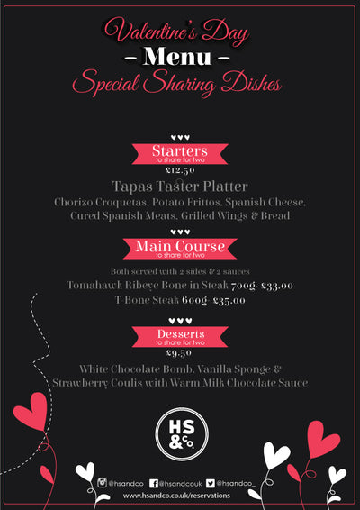 HS & Co. Valentine's Menu