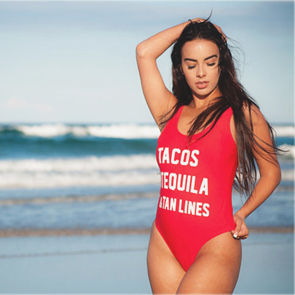 455858a076 TACOS TEQUILA - One Piece Swimsuit – BAE Bather