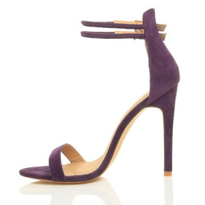 Double Strap High Heeled Sandals