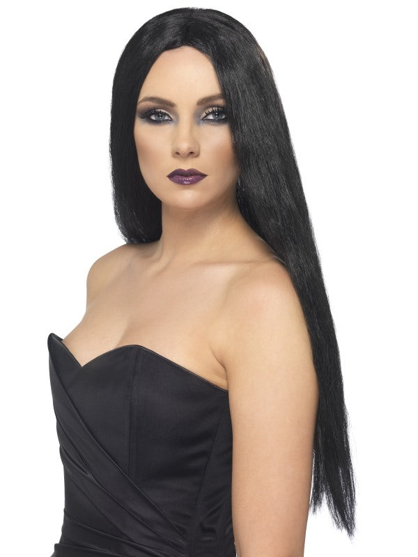 Witch Wig, Black, 61cm Long