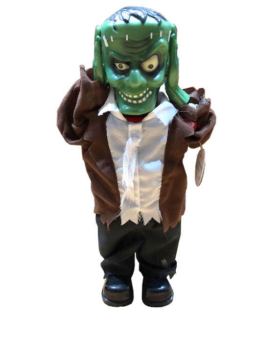 Green Zombie with lifting Head, met licht en geluid 40 cm