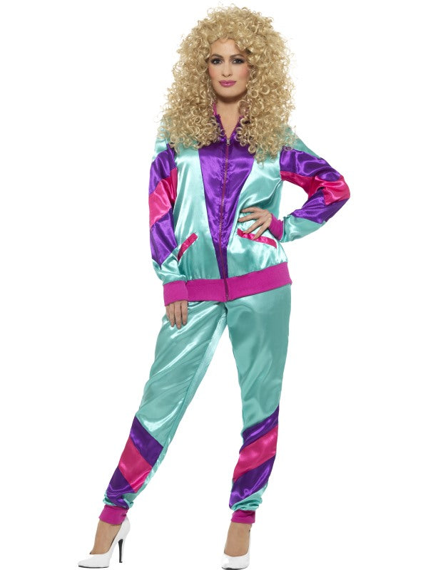 80s Height of Fashion Shell Suit kostuum, dames