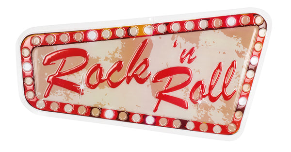 St. PVC wanddecoratie Rock 'n Roll (33 x 60 cm) brandvertragend - Fiesta4you feestkleding deventer