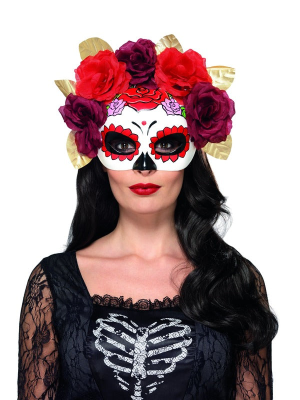 Day of the Dead Rose oogmasker