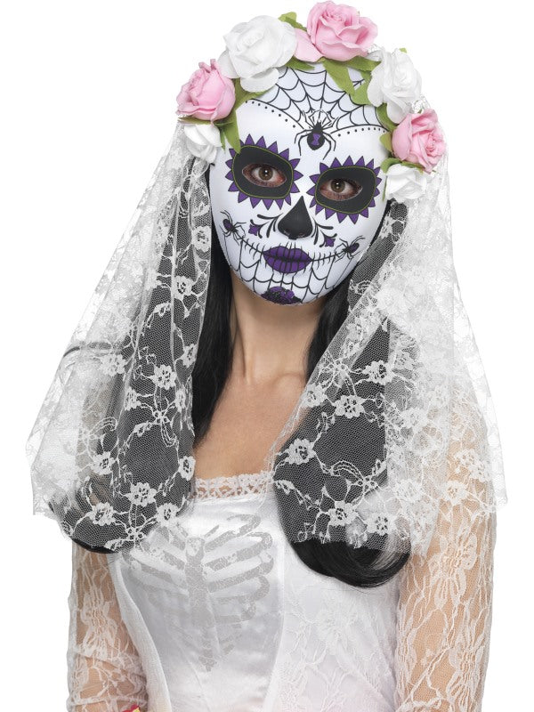 Day of the Dead Bride Masker, Full Face