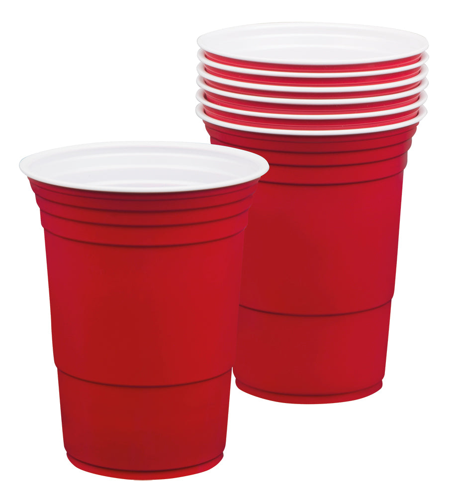 Set 6 American red cups (40 cl)