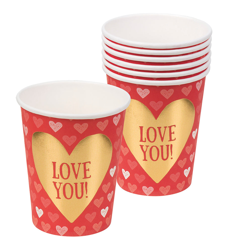 Set 6 Bekertjes Love (25 cl)