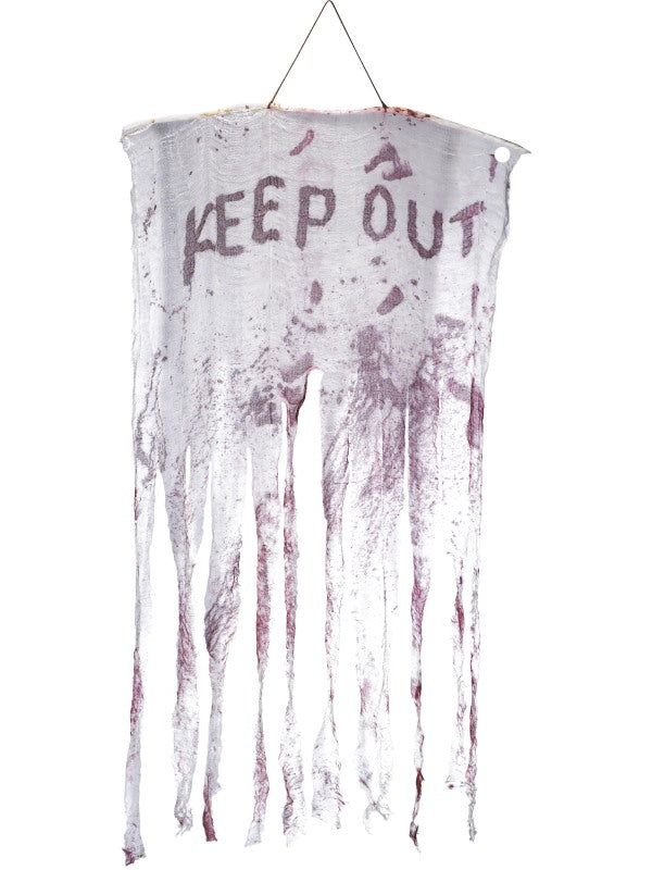 Keep Out bloedy Hanging decoratie