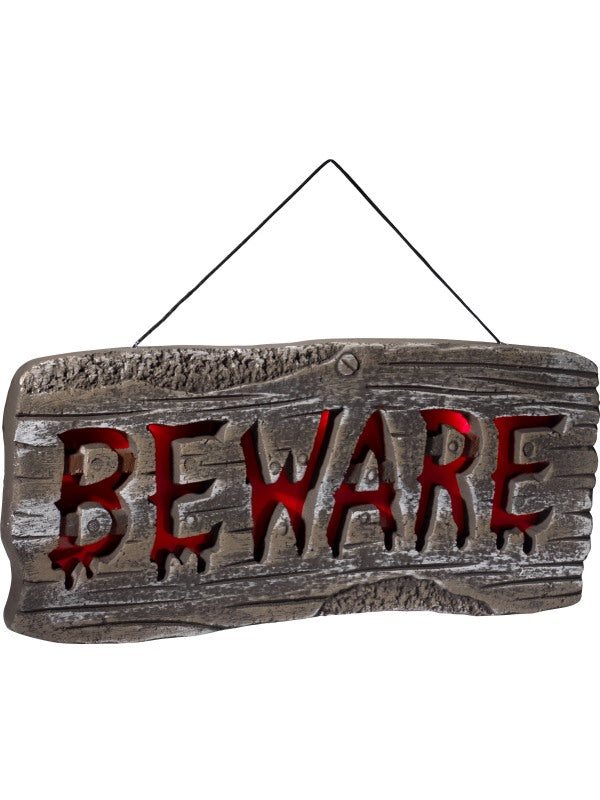 Light Up Hanging Beware teken