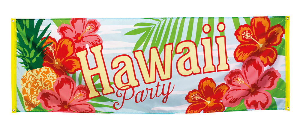 St. Polyester banner 'Hawaii party' (74 x 220 cm)