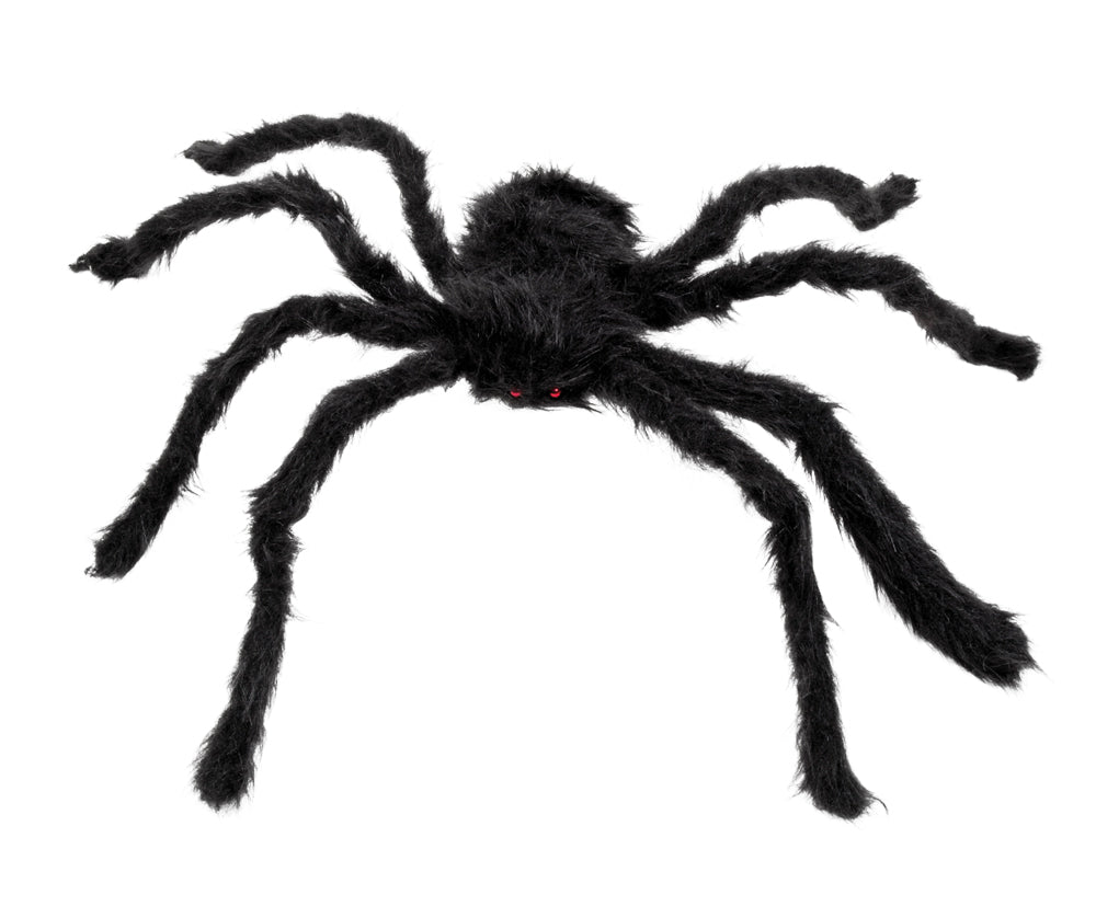 "Decoratie spin ""Hairy spider"" zwart"