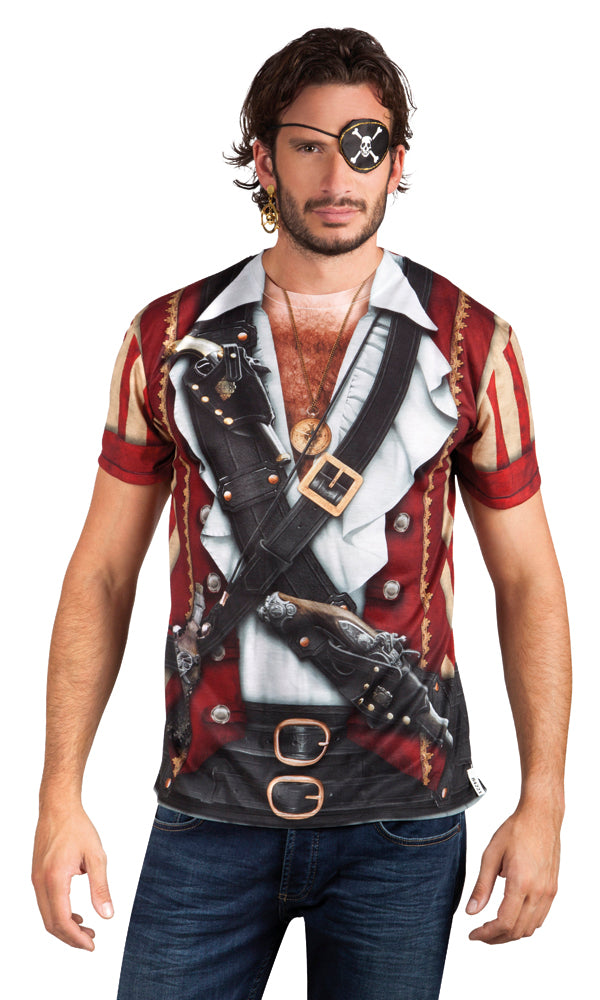St. Fotorealistisch shirt Pirate (L)